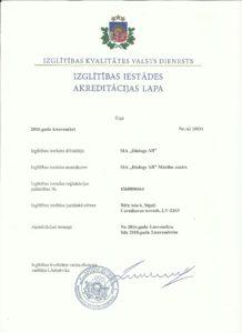 Akreditacijas lapa